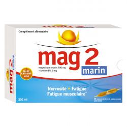 Mag 2 Magnésium marin, Nervosité Fatigue, Boite 30 Ampoules