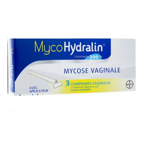 MycoHydralin 200mg 3 comprimés vaginaux