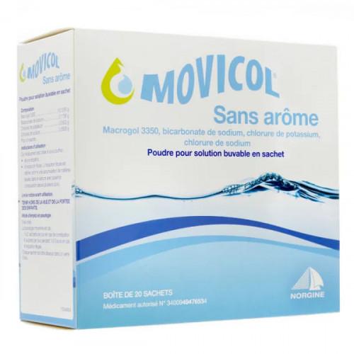 Movicol sans arôme poudre 20 sachets