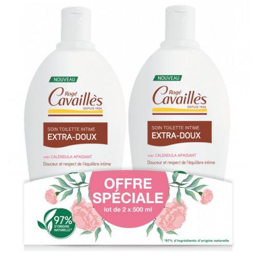 Rogé Cavaillès Soin Toilette Intime Extra-Doux Lot de 2 x 500 ml