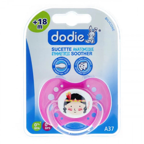 Dodie sucette anatomique silicone fille +18 mois