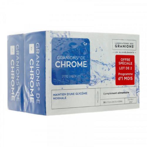 Granions de Chrome 200µg/j 2 X 30 Ampoules