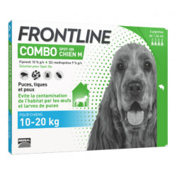 Frontline Combo Chien 10-20 kg 4 pipettes