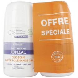 Eau de Jonzac Déo Soin Haute Tolérance 24H Bio Lot de 2 x 50 ml