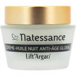 Natessance Lift'Argan Crème Huile Nuit Anti-Age Global Bio 50 ml