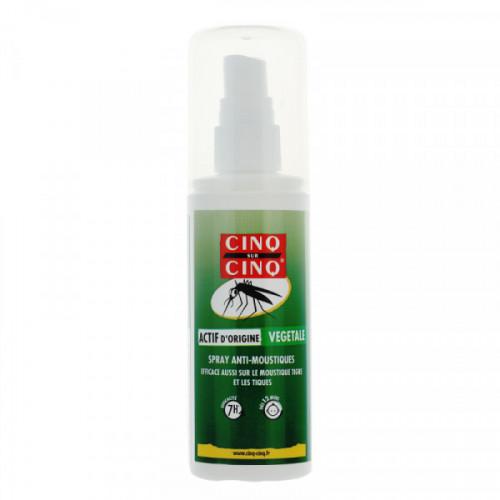 Cinq sur Cinq Lotion Spray anti-moustiques Formule au naturel (citriodiol) 100 ml