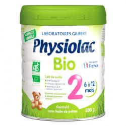 Physiolac Bio lait 2e âge 800 g