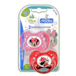 Dodie Disney Baby 2 Sucettes Anatomiques Silicone 18 Mois et + - Modèle : Minnie
