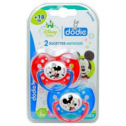Dodie Disney Baby 2 Sucettes Anatomiques Silicone 18 Mois et + - Modèle : Mickey