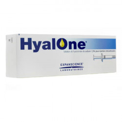 Hyalone Solution de hyaluronate de sodium 1,5% 1 seringue