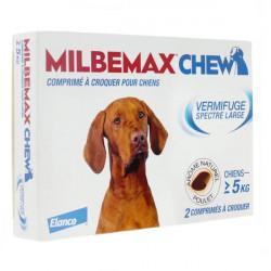Milbemax Chew Chiens de 5 kg et plus 2 comprimés