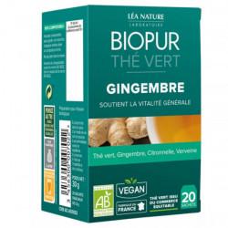 Biopur Thé Vert Gingembre 20 Sachets