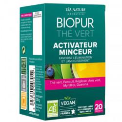 Biopur Thé Vert Activateur de Minceur 20 Sachets