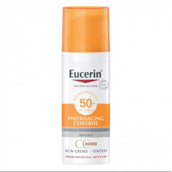 EUCERIN SUN PROTECTION PHOTOAGING CONTROL CC SUN CRÈME MEDIUM TEINTÉE SPF50+ 50 ML