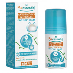 PURESSENTIEL ARTICULATIONS & MUSCLES CRYO PURE ROLLER AUX 14 HUILES ESSENTIELLES 75 ML