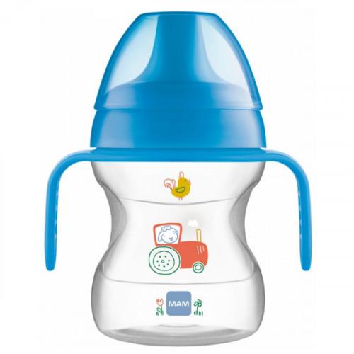 MAM Tasse Avec Anses et bec 190 ml 6 Mois et + Bleu