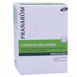 Pranarôm Aromaforce Capsules Nez-Gorge 30 Capsules