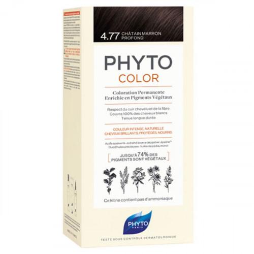 Phyto Color Kit coloration permanente 4,77 Châtain Marron Profond