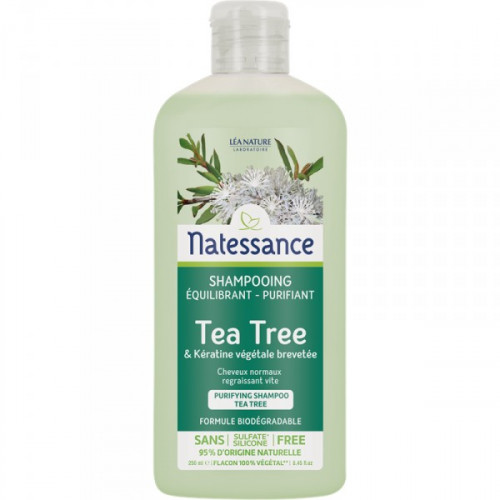 Natessance Shampooing Équilibrant Purifiant Tea Tree 250 ml
