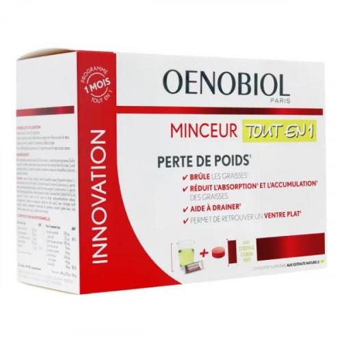 Oenobiol coffret Minceur tout en 1 30 sticks + 60 comprimés