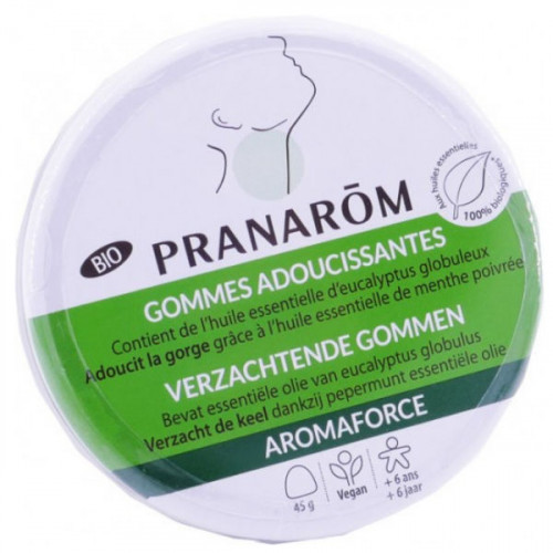 Pranarom Aromaforce Gomme Adoucissantes Eucalyptus 45 g