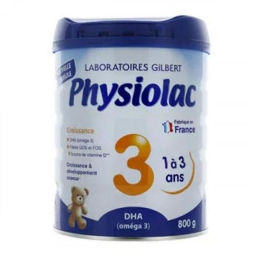 Physiolac Croissance lait 3ème âge 800 g