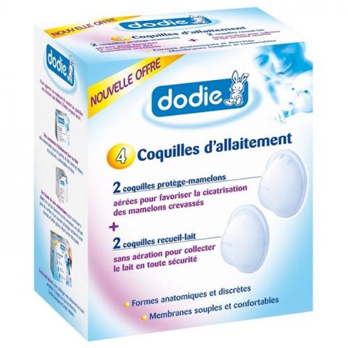DODIE Coquilles d'allaitement, 2 x 2 unités