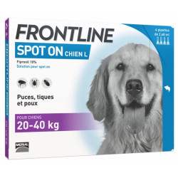 Frontline Spot-On Chien L (20-40 kg) 6 Pipettes