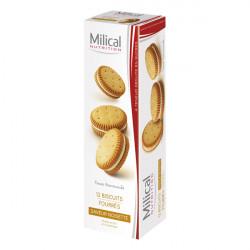 MILICAL Biscuits fourrés saveur noisette 12 biscuits