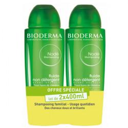 Bioderma Nodé Shampooing Fluide Non Détergent Lot de 2 x 400 ml
