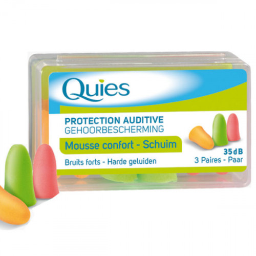 QUIES 6 Paires de Protection Auditive en Mousse