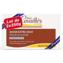 Rogé Cavaillès Savon Surgras Extra Doux Fleur de Coton Lot de 2 x 250 g