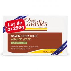 Rogé Cavaillès Savon Surgras Extra Doux Amande Verte Lot de 2 x 250 g