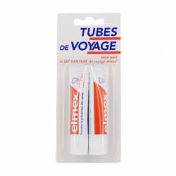 ELMEX PROTECTION CARIES Dentifrice au fluorure d'amines olafluor, tubes de voyage T/12ml, lot de 2