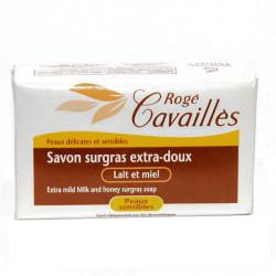 Rogé Cavaillès Savon Surgras Extra Doux Lait et Miel Peaux Sensibles 250g