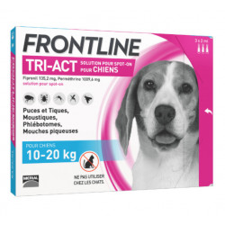 Frontline Tri Act  Chiens 10-20 kg 3 Pipettes