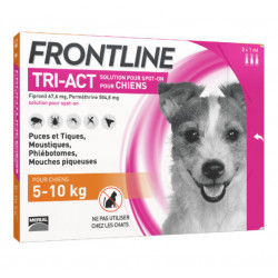 Frontline Tri Act spot on Petit chien 5 - 10 kg 3 pipettes