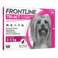 Frontline Tri Act spot on Très Petit Chien 2 - 5 kg 3 pipettes