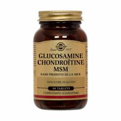 SOLGAR EXTRA CONCENTRÉ GLUCOSAMINE CHONDROÏTINE MSM 60 COMPRIMÉS