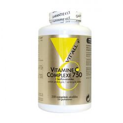 VIT'ALL + VITAMINE C COMPLEXE 750 + BIOFLAVONOIDES 250 COMPRIMES