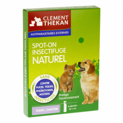 Clément Thekan Spot-On Insectifuge Naturel Chiot et Chaton 4 pipettes