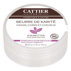 Cattier Beurre de Karité Fleurs des îles, 100g