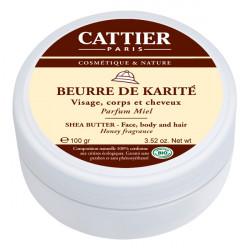 Cattier  Beurre de karité parfum miel 100g