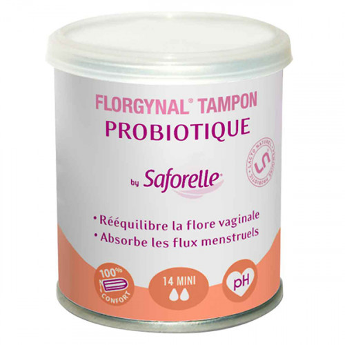 Saforelle Florgynal Tampon Probiotique 14 Mini