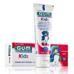 GUM KIDS Dentifrice enfant 2-6 ans, goût fraise 50 ml