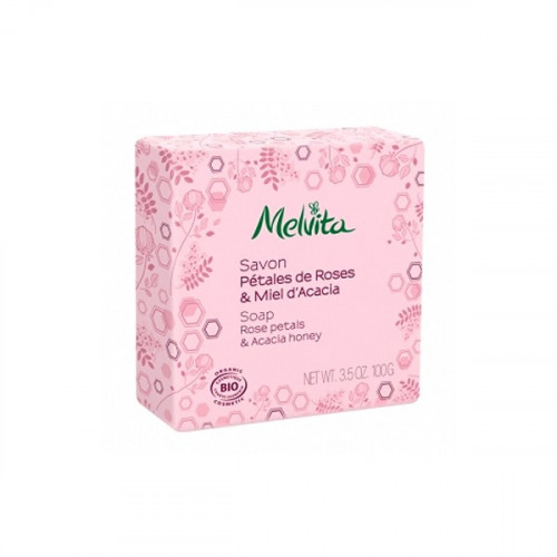 MELVITA SAVON PÉTALES DE ROSES & MIEL D'ACACIA 100 G