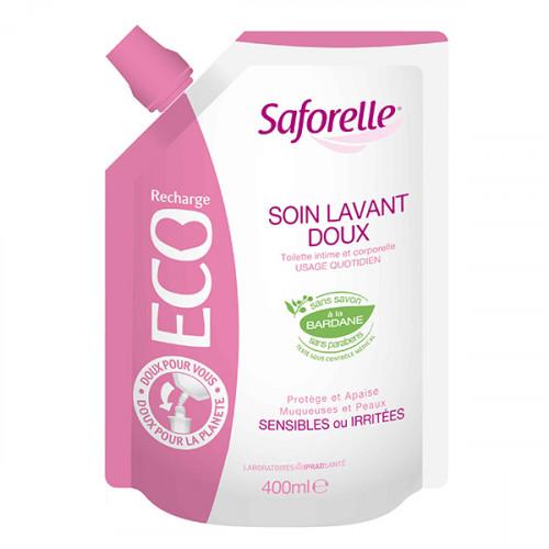 Saforelle Soin Lavant Doux Hygiène Intime et Corporelle Eco Recharge 400ml