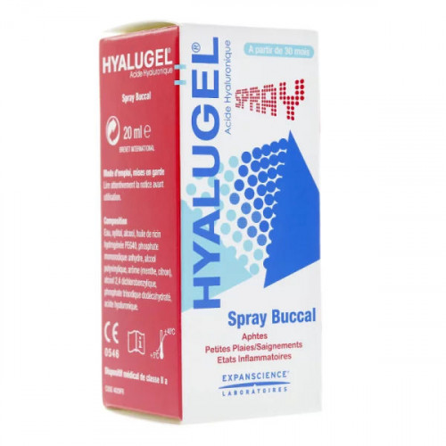 Hyalugel spray buccal 20 ml