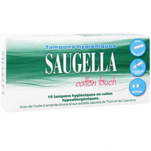 SAUGELLA COTTON TOUCH 16 TAMPONS HYGIÉNIQUES NORMAL