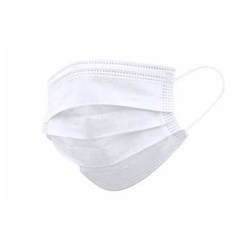 Masque Chirurgicaux Blanc à usage unique - 50 Unités -